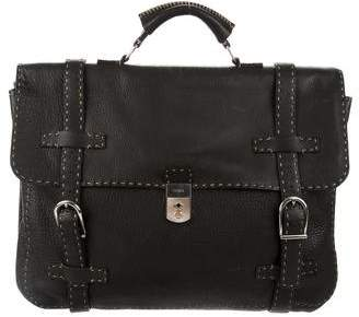 Fendi Selleria Leather Briefcase