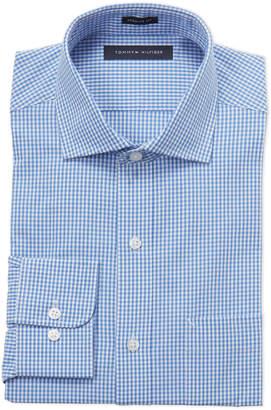 Tommy Hilfiger Blue Gingham Regular Fit Dress Shirt