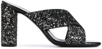 Saint Laurent glitter mules