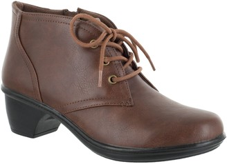 Easy Street Shoes Comfort Lace Up Booties - Debbie
