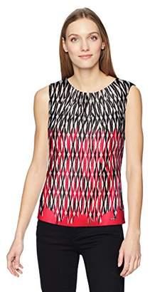 Calvin Klein Women's Printed Pleat Neck Cami