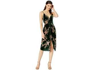 J.o.a. Velvet Front Twist Dress