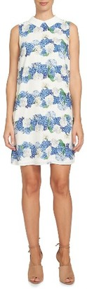 Women's Cece Hydrangea Plaid Shift Dress $119 thestylecure.com