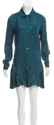 Proenza Schouler Ruffled Silk Dress