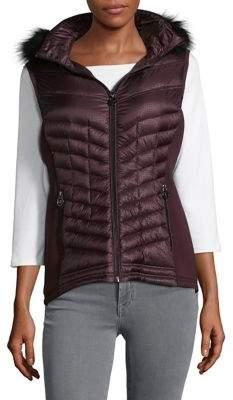 MICHAEL Michael Kors Cobblestone Faux Fur Puffer Vest