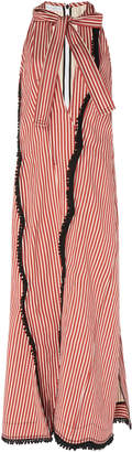 J.W.Anderson Striped Bow Neck Cotton Dress