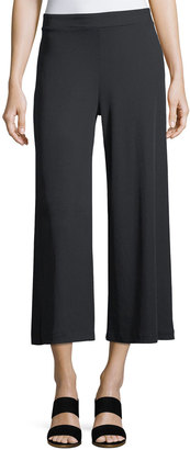 Kensie Wide-Leg Ribbed Jersey Pull-On Pants $49 thestylecure.com