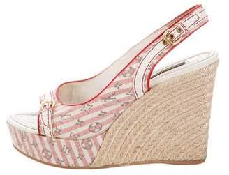 Louis Vuitton Logo Espadrille Wedges