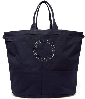cdce55b2e06d Stella McCartney Logo Print Cotton Oversized Tote Bag - Womens - Navy