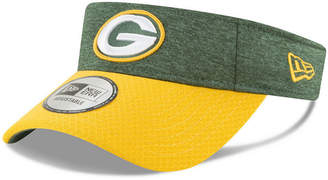 New Era Green Bay Packers On Field Sideline Visor