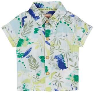 Mantaray 'Baby Boys' Multi-Coloured Dinosaur Print Short Sleeve Shirt