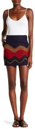 ONEBUYE Retro Patterned Mini Skirt
