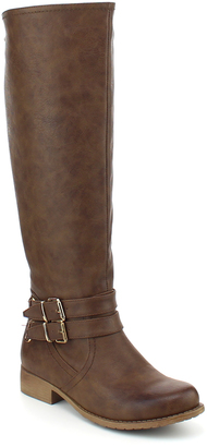 Brown Merlot Double-Buckle Boot $69.99 thestylecure.com