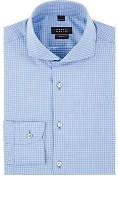 Barneys New York MEN'S GINGHAM COTTON POPLIN SHIRT - LT. BLUE SIZE 14.5 R