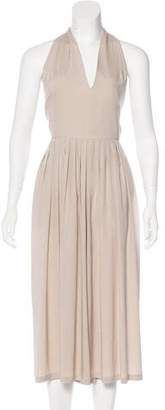 Christian Wijnants Silk Pleated Jumpsuit