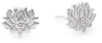 Alex and Ani Lotus Peace Petals Stud Earrings
