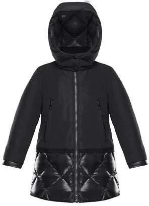 Moncler Sibylle Quilted-Hem Hooded Jacket, Size 8-14