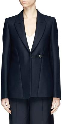 Victoria Beckham 'Fluid' flared back virgin wool blazer