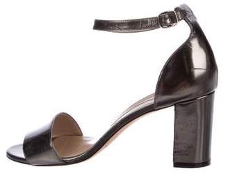Manolo Blahnik Patent Leather Mid-Heel Sandals
