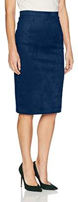 BCBGMAXAZRIA Women's Alpine Faux Suede Knit Pencil Skirt