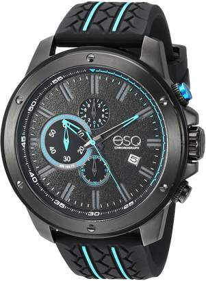 ESQ by Movado ESQ Men's 'Sport' Quartz Stainless Steel and Silicone Casual Watch, Color Black (Model: 37ESQE19301A)