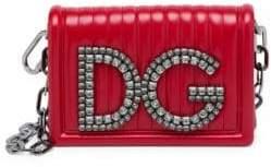 Dolce & Gabbana Girls Quilted Leather Shoulder Bag