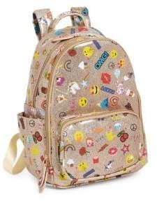Emoji Faux Leather Backpack