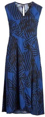 Zero Maria Cornejo Ribbon Print Stretch Silk Dress