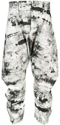 Birk Nielsen drop crotch cropped trousers