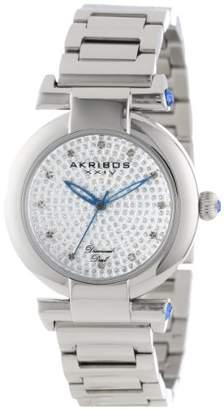 Akribos XXIV Women's AK565SS Lady Diamond Swiss Quartz Diamond Bracelet Watch
