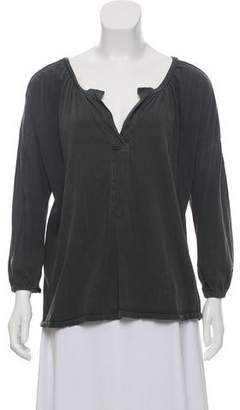 The Great Long Sleeve Draped Top