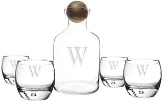 Cathy's Concepts CATHYS CONCEPTS Personalized Decanter and Set of 4 Whiskey Glasses