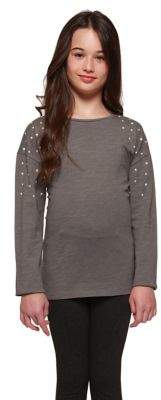 Dex Girl's Faux Pearl Embellished Tee