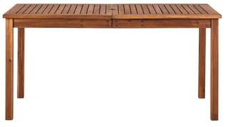 Walker Edison Acacia Wood Patio Simple Dining Table