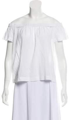 Bella Dahl Off-The-Shoulder Short Sleeve Blouse