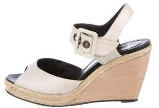 Pierre Hardy Canvas Ankle Strap Sandals