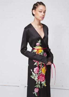 ATTICO Printed Robe Dress