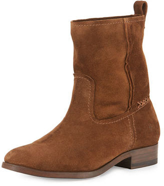 Frye Cara Short Suede Boot $298 thestylecure.com