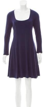 Alice + Olivia Lace-Trimmed Mini Dress