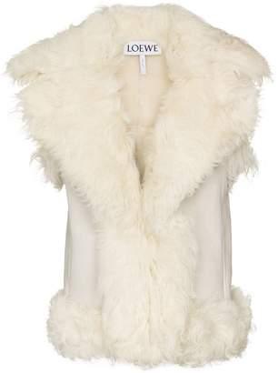 Loewe sleeveless shearling gilet coat