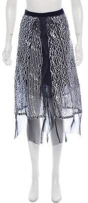 Sacai Sequin Midi Skirts w/ Tags