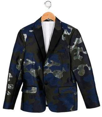 DSQUARED2 Boys' Notch-Lapel Camouflage Blazer