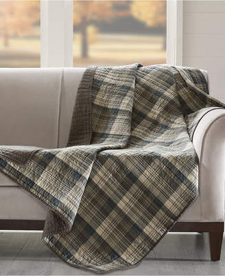 """Woolrich Tasha Reversible Plaid 50"""" x 70"""" Quilted Throw"""