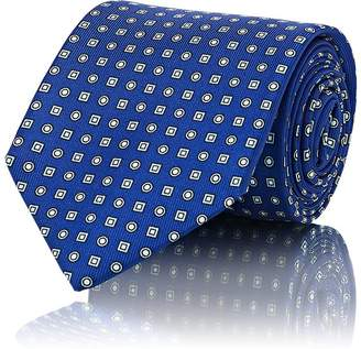 Drakes Drake's Men's Diamond-Dot-Print Silk Necktie