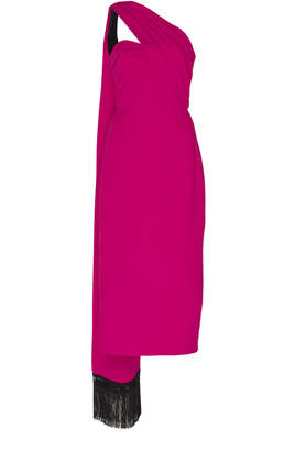 Andrew Gn Scarf-Effect Crepe Dress