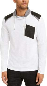INC International Concepts I.n.c. Men's Long-Sleeve Cowl Neck T-Shirt, Created for Macy's