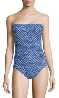 Calvin Klein One-Piece Bandeau Swimsuit