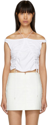 Alexander Wang White High Twist Tie Tank Top