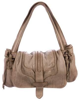 Zadig & Voltaire Distressed Leather Shoulder Bag