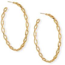 Jennifer Zeuner Jewelry Carmine Link Hoop Earrings